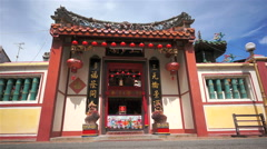Chinese Temple in Melaka, Malaysia Stock Footage