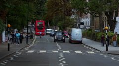 Famous crosswalk at Abbey Road London The Beatles Stock Footage