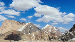 Clouds in the mountains. Time Lapse. Pamir, Tajikistan Stock Footage
