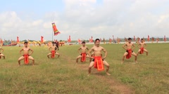 The martial arts practitioners performance traditional martial arts,  Asia - stock footage
