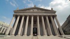 New York City Supreme Court courthouse building tilt up 4k Stock Footage