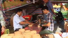 People are making cereal cake, Asia Stock Footage