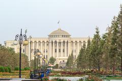 Palais des nations in the morning, dushanbe, tajikistan Stock Photos