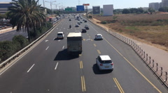Tel Aviv high way on medium traffic - stock footage