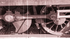 Wheels of an old train Stock Footage