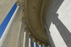 Stock Photo of pillars at the jefferson memorial