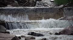 Small waterfall at Eldorado Canyon State Park Stock Footage
