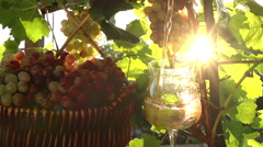 Wine is Poured Into a Glass Stock Footage