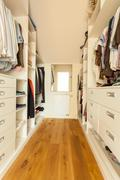 bright spacious closet - stock photo