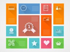 Flat square icons for internet purchase Stock Illustration