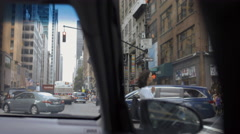 People Street Interior Car Manhattan New York City NYC 4K Stock Footage
