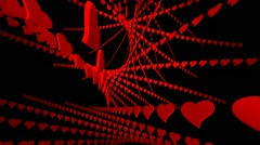 Heart Dance Looping Background - stock footage