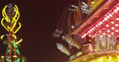 Carnival Ferris Wheel and Swings Stock Footage