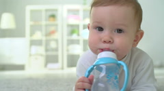 Thirsty Child Stock Footage