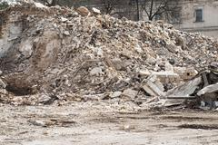 Construction and Demolition Debris - stock photo