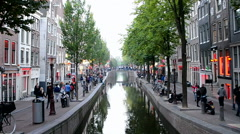 Red Light District in Amsterdam, Netherlands. Stock Footage