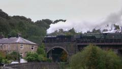 Heritage steam train on East Lancashire Railway Stock Footage