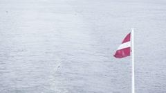 Flag of Latvia Stock Footage