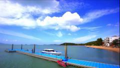 Time lapse on Bophut beach Koh Samui. Thailand video Stock Footage