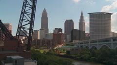 Cleveland Ohio Skyline 2 Arkistovideo