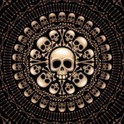 Skulls and bones rosette Stock Illustration