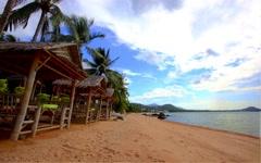 4K Time lapse beautiful sea view on Koh Samui - stock footage