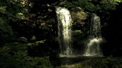 Near Osinohakkai water fall front, color graded 4K (3840x2160) - stock footage