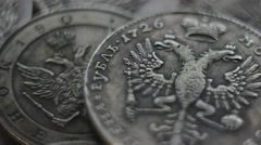 Russian coin of 18-19 centuries. 4K Stock Footage