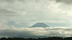 Mt.Fuji cloudy sky, color graded Full HD (1920x1080) Stock Footage