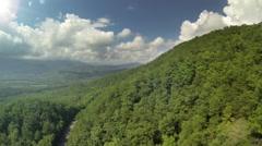 Flying Backwards over Mountains Long 1/2 mile shot Stock Footage