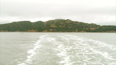 Angel Island Ferry Wakes San Francisco Bay Stock Footage
