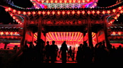 People worship at Thean Hou Chinese Temple - time lapse Stock Footage