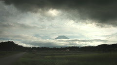 Mt.Fuji cloudy sky wide angle, color graded  Full HD (1920x1080) Stock Footage