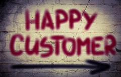 happy customer concept - stock illustration