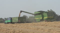 Harvesting Wheat in Germany 6 Stock Footage