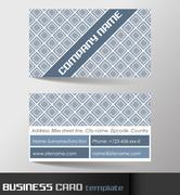 Stock Illustration of Business card template or visiting card set
