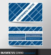 Business card template or visiting card set Stock Illustration