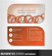 Business card template or visiting card set - stock illustration
