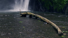 Beautiful waterfall in the tropical zone, slow motion shot at 120fps Stock Footage