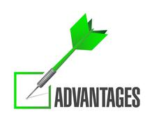 Check mark advantages illustration design Stock Illustration