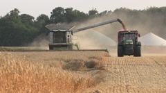 Harvesting Wheat in Germany 10 Stock Footage