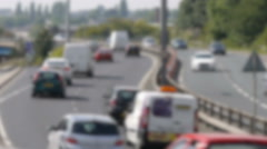 Traffic moving on dual carriage way Stock Footage