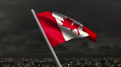 Canadian Flag Animation  - 4K Resolution Ultra HD Stock Footage