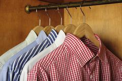 Closeup shirts Stock Photos