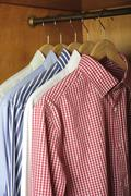 Hanged shirts Stock Photos