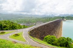 Stock Photo of viewpoint at ratchaprapha dam