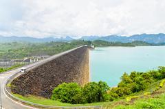 Scenic point of green lake at ratchaprapha dam Stock Photos