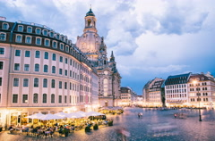 Dresden frauenkirche church in germany Stock Footage