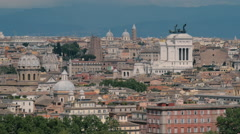 Static long lens cityscape of Rome Stock Footage