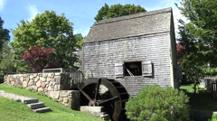 Dexter's Grist Mill, Cape Cod Stock Footage